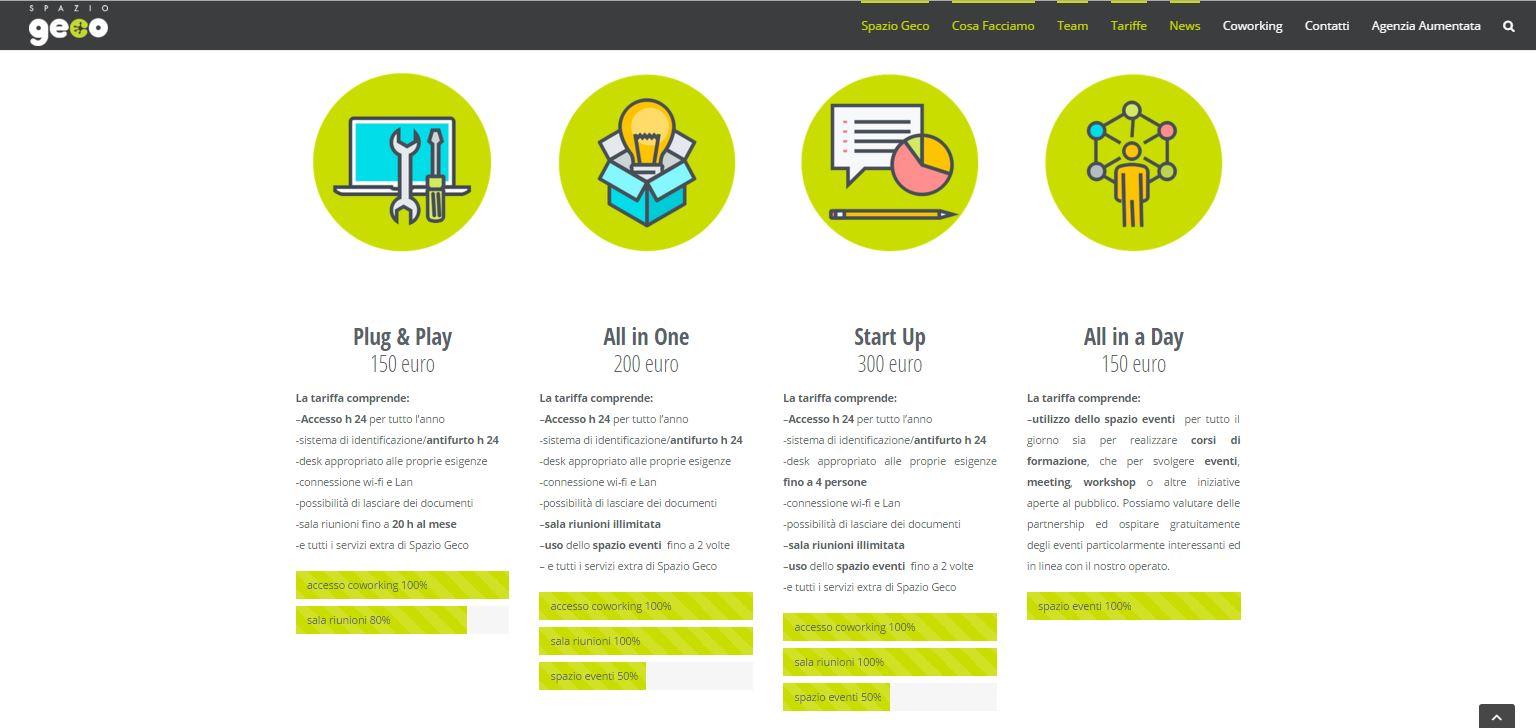 realizzazione sito web spazio geco