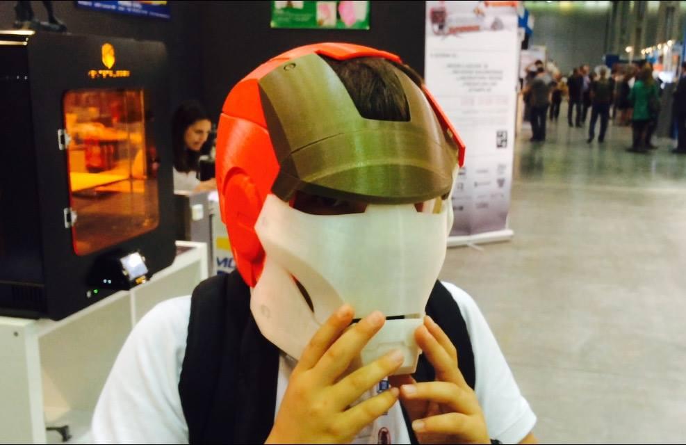 maschera iron man modello stampa 3D