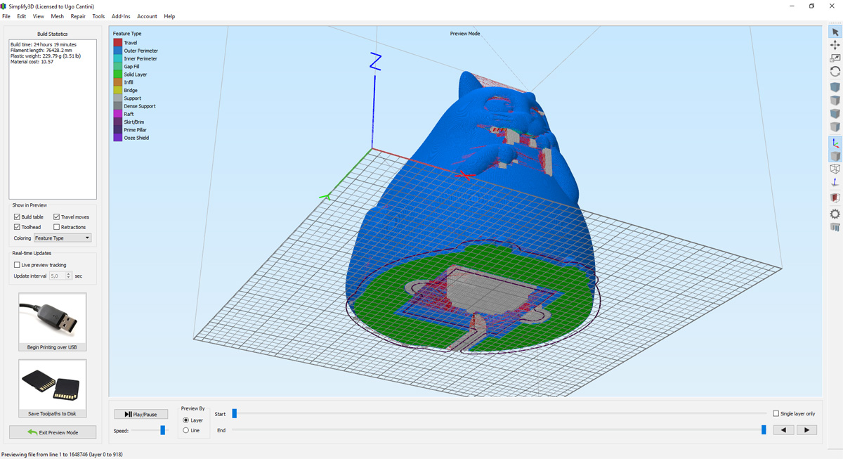 Gatto Panzone Modellazione 3D Geofelix