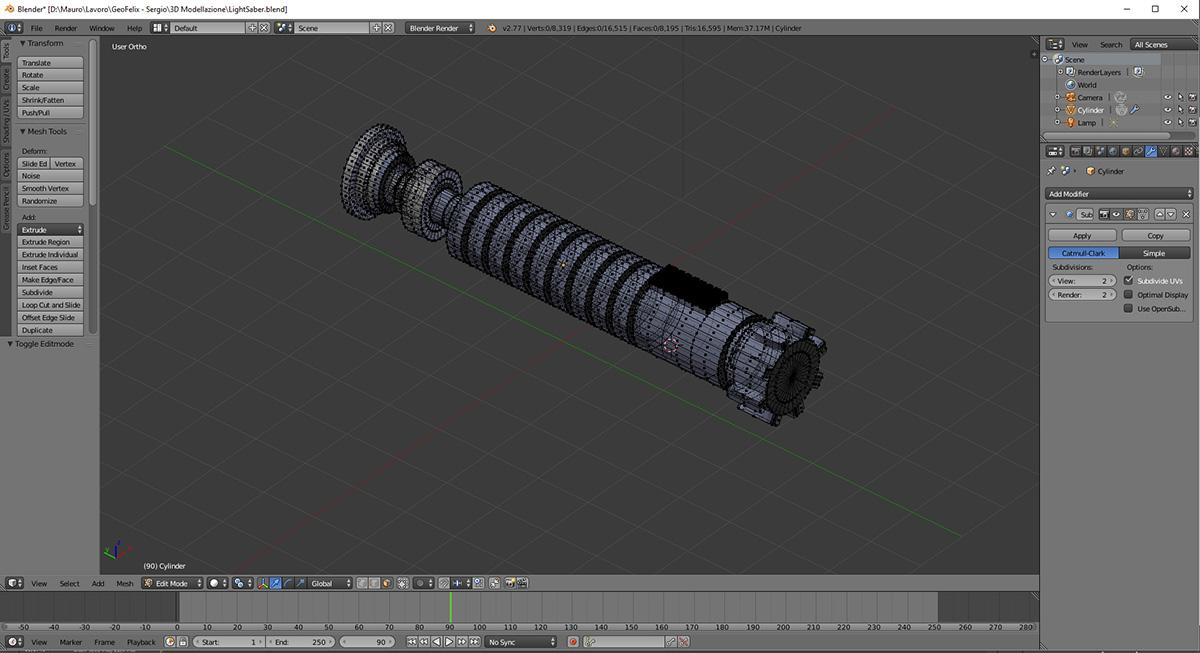 Modellazione 3D Geofelix