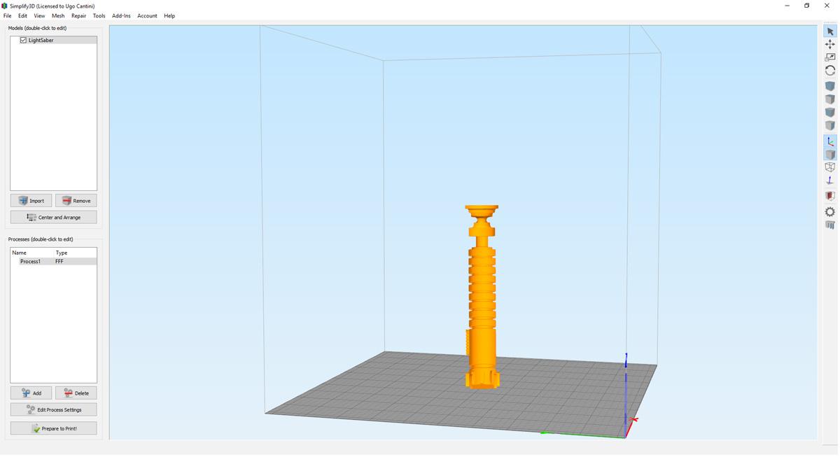 Ottimizzazione modello 3D Geofelix