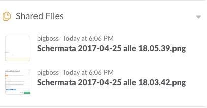 File condivisi nel canale su Slack